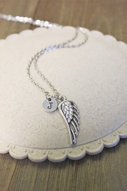 """Angel Wing"" - Initial Jewelry"