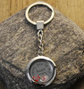 """""""I carry you in my heart"""" Glass Floating Charm Key Chain with Photo Charm"""