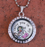 Awareness Floating Charm Locket with Photo (Choose your Awareness)