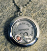 "Engraved ""I carry you in my heart"" Floating Charm Locket with Photo"