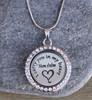 I carry you in my heart - Engraved Floating Charm Locket