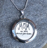 "Mom ""est"" - Engraved Floating Charm Locket"