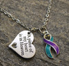 Memorial Awareness Necklace (Choose you charm and Ribbon Color)