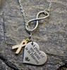 Memorial Awareness Infinity Necklace (Choose you charm and Ribbon Color)