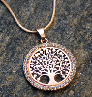 Rose Gold Blossoming Tree of Life Necklace
