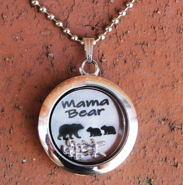 """Mama Bear"" Floating Locket"