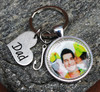 """Dad"" Photo Key Chain (choose your charm)"