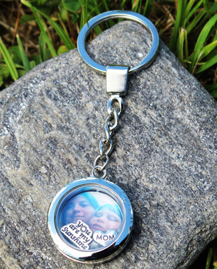 Memorial Photo Floating Key Chain (Choose you Charms)