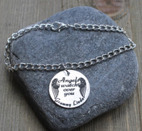 Angels watch over you - Engraved Chain Bracelet