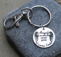 Angels watch over you - Engraved Key Chain