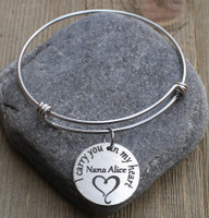 I carry you in my heart - Engraved Bangle Bracelet