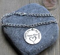 I carry you in my heart - Engraved Chain Bracelet
