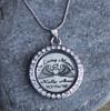 In Loving Memory (Angel Wings) - Engraved Floating Charm Locket