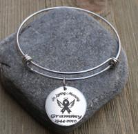 In Loving Memory (Awareness Ribbon) - Engraved Bangle Bracelet
