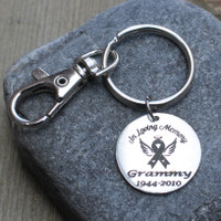 In Loving Memory (Awareness Ribbon) - Engraved Key Chain