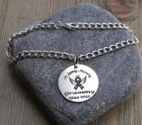 In Loving Memory (Awareness Ribbon) - Engraved Chain Bracelet