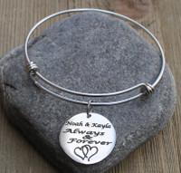 Always & Forever - Engraved Bangle Bracelet
