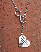 """Collar Infinito """"Un pedazo de mi corazón está en el cielo"""""""