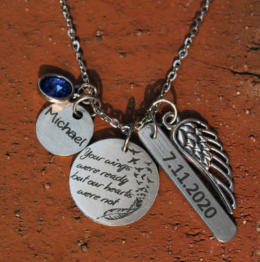 """Your wings were ready"" Personalized Necklace"