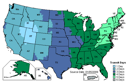 Shipping Policy Workout Supplements - Us postal zone map