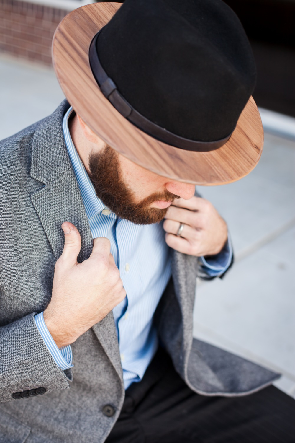 Wood Brimmed Fedoras Two Guys Bow Ties
