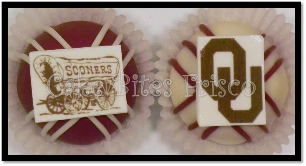 Logo cake balls