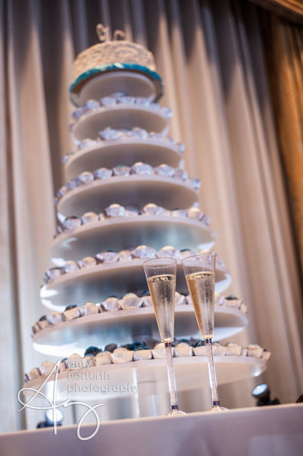 tiered cake ball display