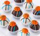 Delicious basketball cake balls
