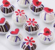 Delicious love birds cake balls