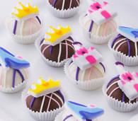 pretty princess cake balls, perfect for birthdays
