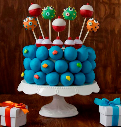 "Cake ball ""cake,"" perfect for birthdays!"