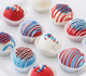 Fourth of July cake balls