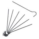 Stake - Titanium Hook Stake (Single)