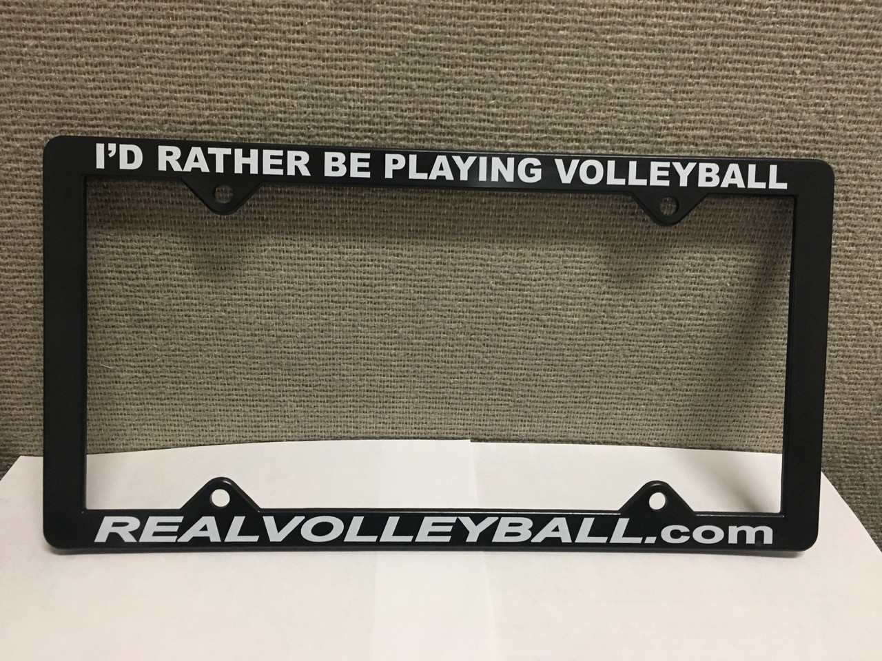 Old Fashioned Volleyball License Plate Frame Image - Frame Photo ...