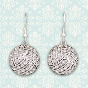 Spirit Strings Crystal Volleyball Earrings