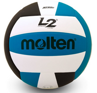 Molten L2 Volleyball (Black/White/Aqua)