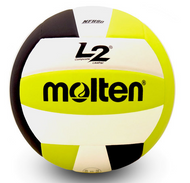 Molten L2 Volleyball (Black/White/Lime)