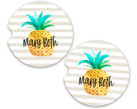 Personalized Car Coaster - Pineapple