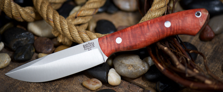 Bark River Knives: Kalahari Drop-Point Hunter