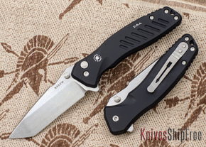Spartan Blades: Pallas - Tanto - Stonewashed Finish - Black Anodized Frame