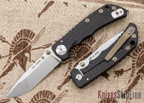 Spartan Blades: Special Edition Harsey Folder - Flag Engraving - Black PVD - Stonewashed Blade