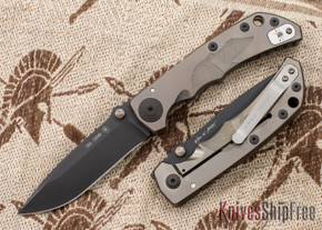 Spartan Blades: Special Edition Harsey Folder - Helmet Engraving - Bronze Anodized - Black PVD Blade