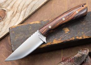Cross Knives: Lil' Whitetail Hunter - Desert Ironwood - Black Liners - Mosaic Pins