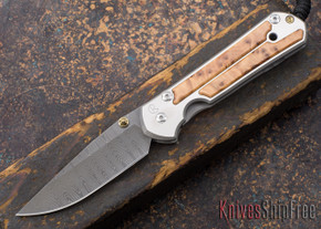 Chris Reeve Knives: Large Sebenza 21 - Thuya Burl - Ladder Damascus - 030220