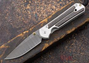 Chris Reeve Knives: Large Sebenza 21 - Bog Oak - Ladder Damascus - 030226