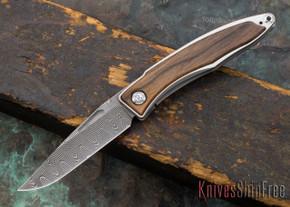 Chris Reeve Knives: Mnandi - Macassar Ebony - Basketweave Damascus - 030619