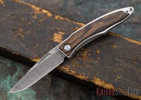 Chris Reeve Knives: Mnandi - Macassar Ebony - Basketweave Damascus - 030621