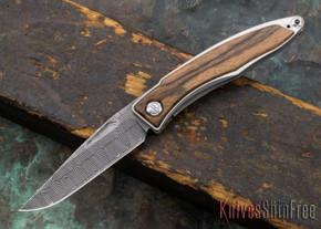 Chris Reeve Knives: Mnandi - Macassar Ebony - Basketweave Damascus - 030622