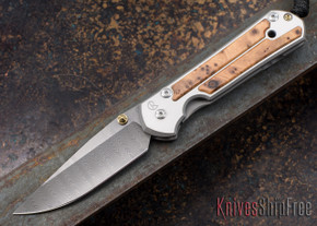 Chris Reeve Knives: Large Sebenza 21 - Thuya Burl - Ladder Damascus - 030708