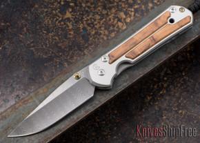 Chris Reeve Knives: Large Sebenza 21 - Thuya Burl - Ladder Damascus - 030711